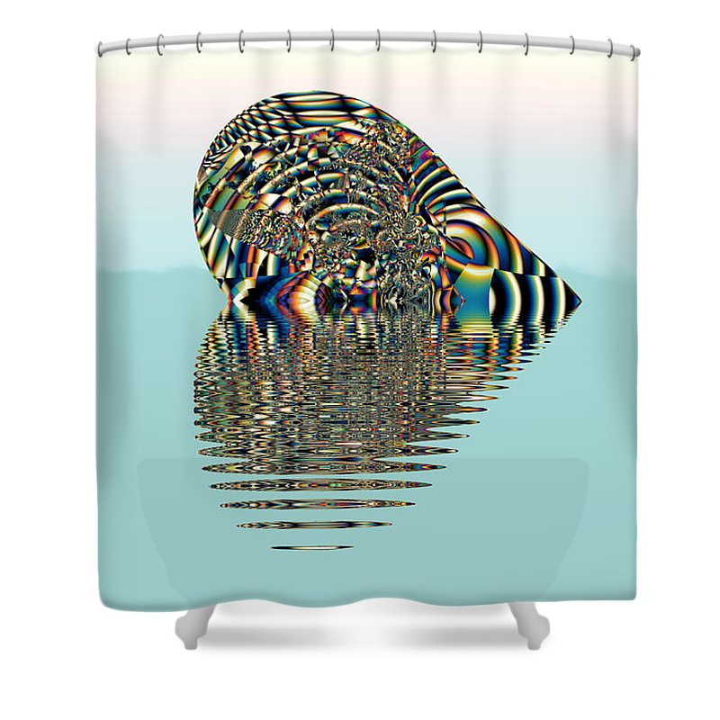 Floating Heart Shower Curtain featuring the digital art Floating Heart by Kiki Art