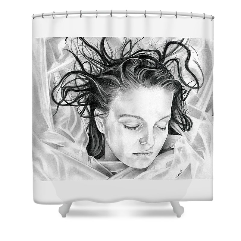 Twin Peaks Shower Curtain Featuring The Photograph Forget Me Not