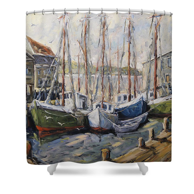 Art Shower Curtain featuring the painting Full House By Prankearts Fine Art by Richard T Pranke