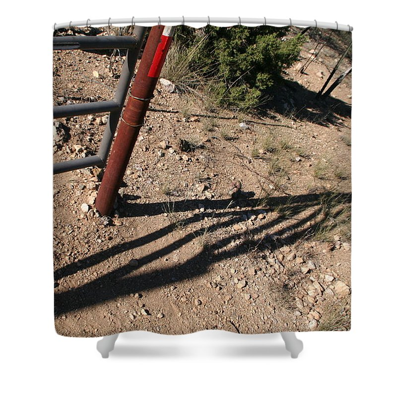 Shadow Shower Curtain featuring the photograph Gate by David S Reynolds