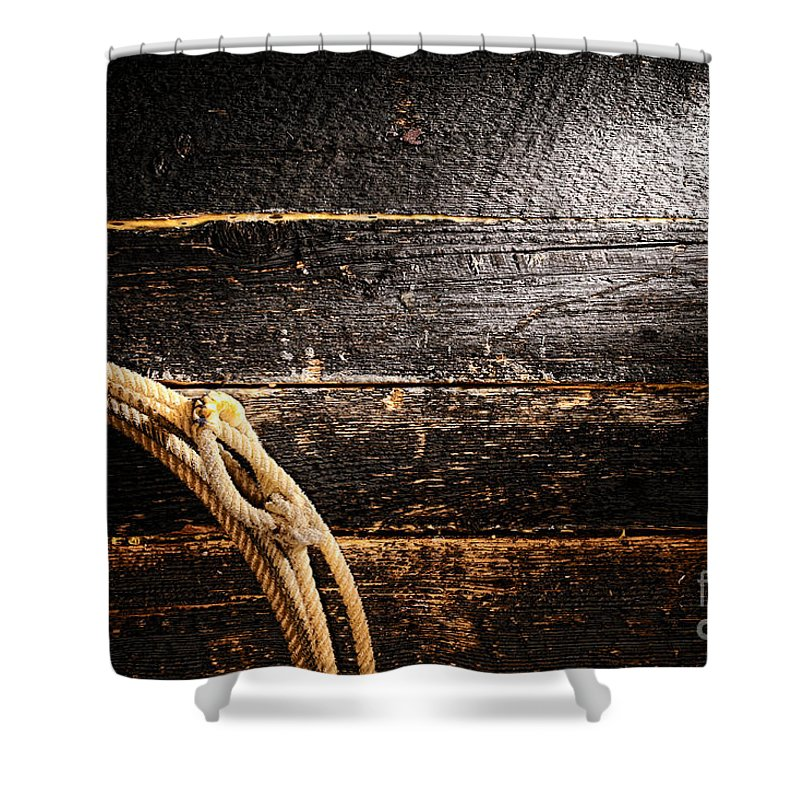 Cowboy Shower Curtain featuring the photograph Grunge Lasso by Olivier Le Queinec