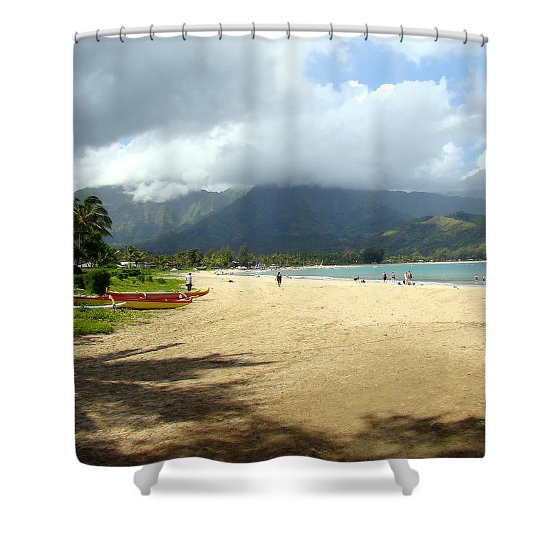 Hanalei Shower Curtain featuring the photograph Hanalei Bay by Melinda Baugh
