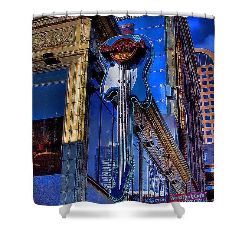Hard Rock Cafe Shower Curtain featuring the photograph Hard Rock Cafe - Seattle by David Patterson