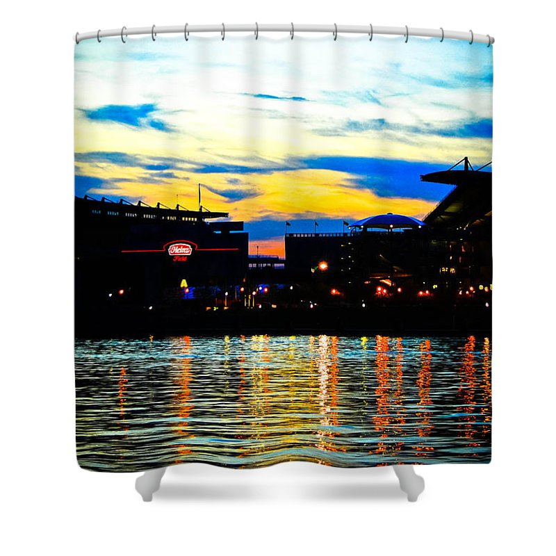 Heinz Shower Curtain featuring the photograph Heinz Field by Kayla Kyle
