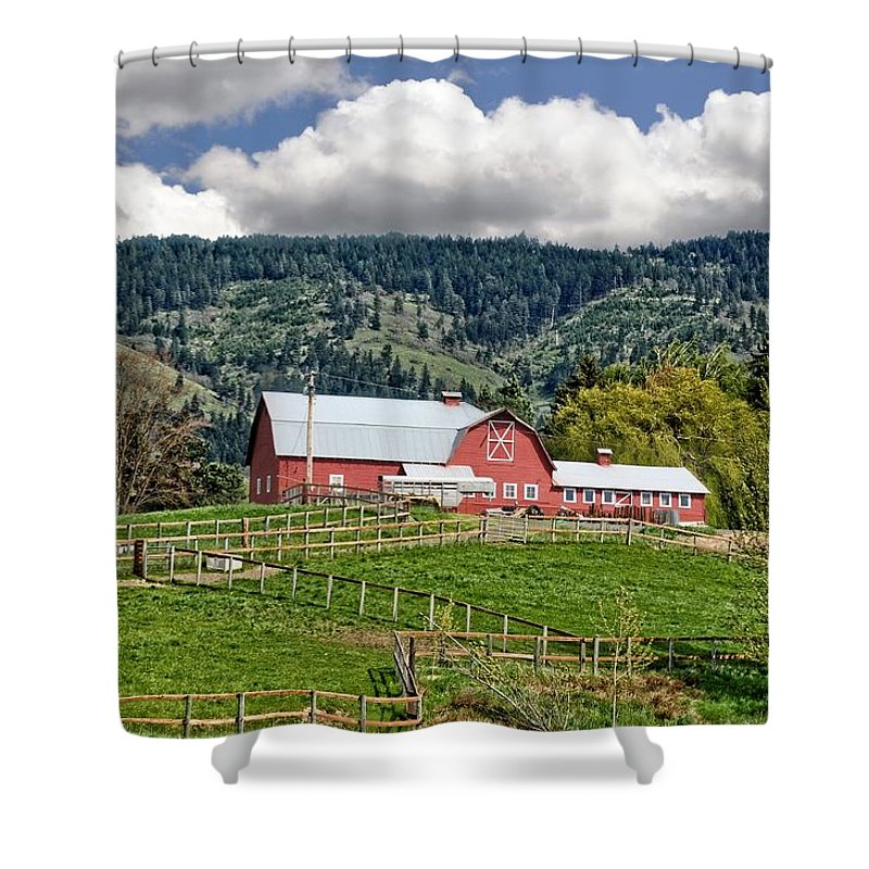 Hood River Shower Curtain featuring the photograph Hood River by Image Takers Photography LLC