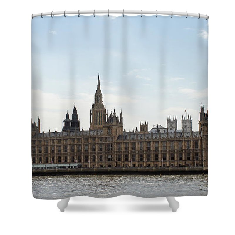 London Shower Curtain featuring the photograph Houses Of Parliament by Tony Murtagh