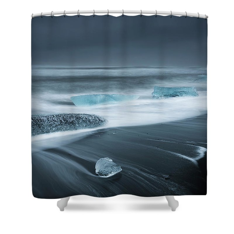 Water's Edge Shower Curtain featuring the photograph Iceland by Jeremy Walker