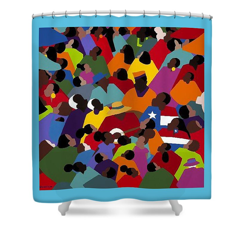 Juneteenth Shower Curtain featuring the painting Juneteenth by Synthia SAINT JAMES