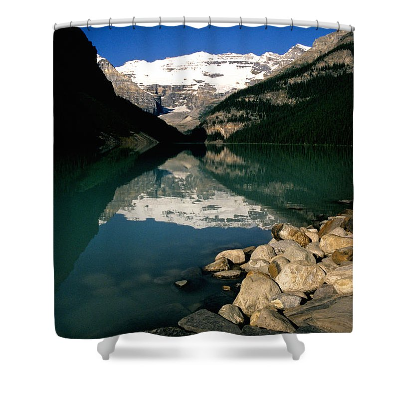 Lake Louise Shower Curtain featuring the photograph Lake Louise Iv by Sharon Elliott
