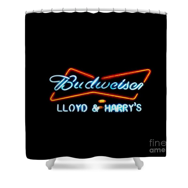 Shower Curtain featuring the photograph Lloyd And Harry's by Kelly Awad