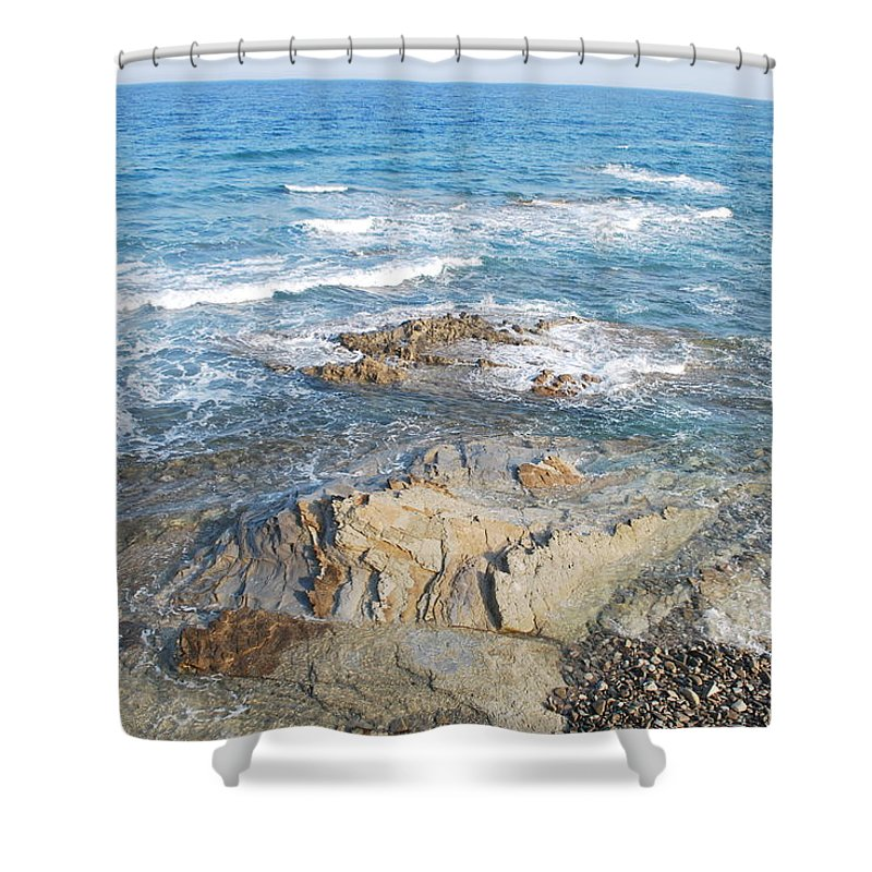 Seascape Shower Curtain featuring the photograph Low Tide by George Katechis