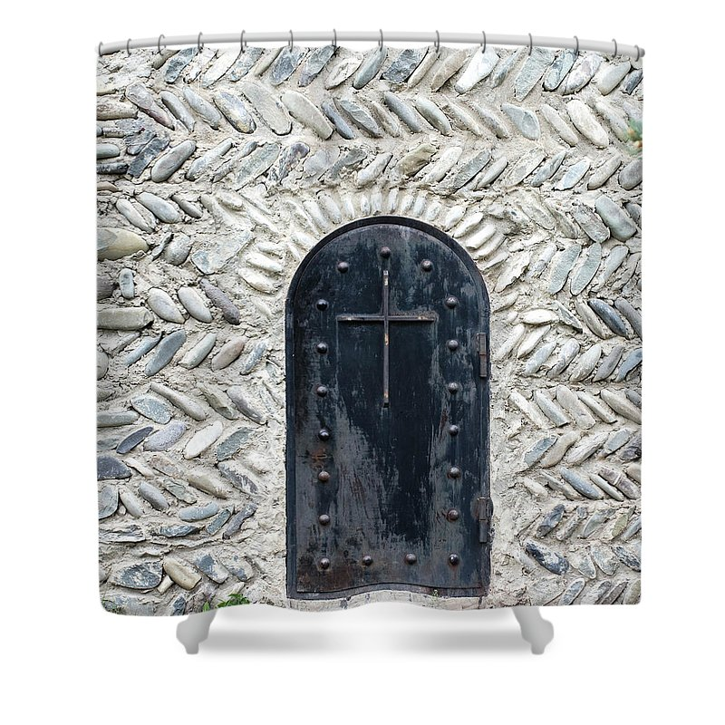 Arch Shower Curtain featuring the photograph Medieval Door by ????? ???????