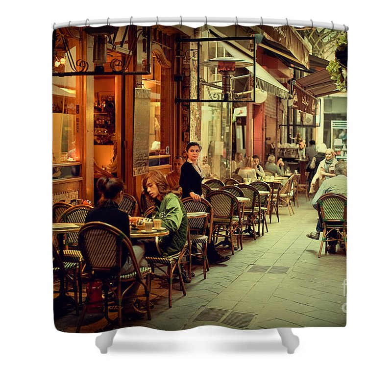 Al Fresco Dining Shower Curtain featuring the photograph Memory Lane by Ray Warren