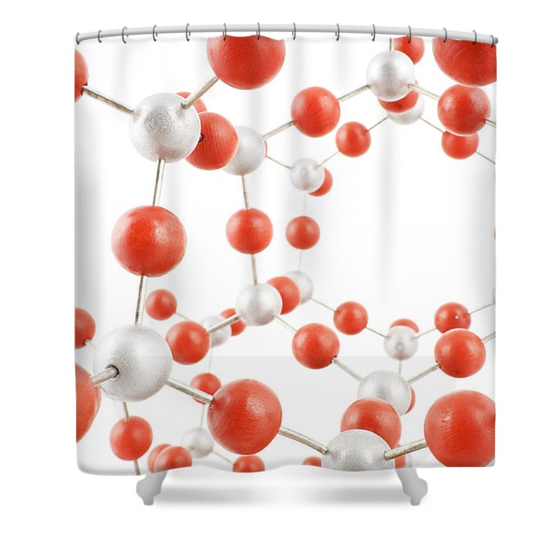 Chemistry Shower Curtain featuring the photograph Molecular Model by Chevy Fleet