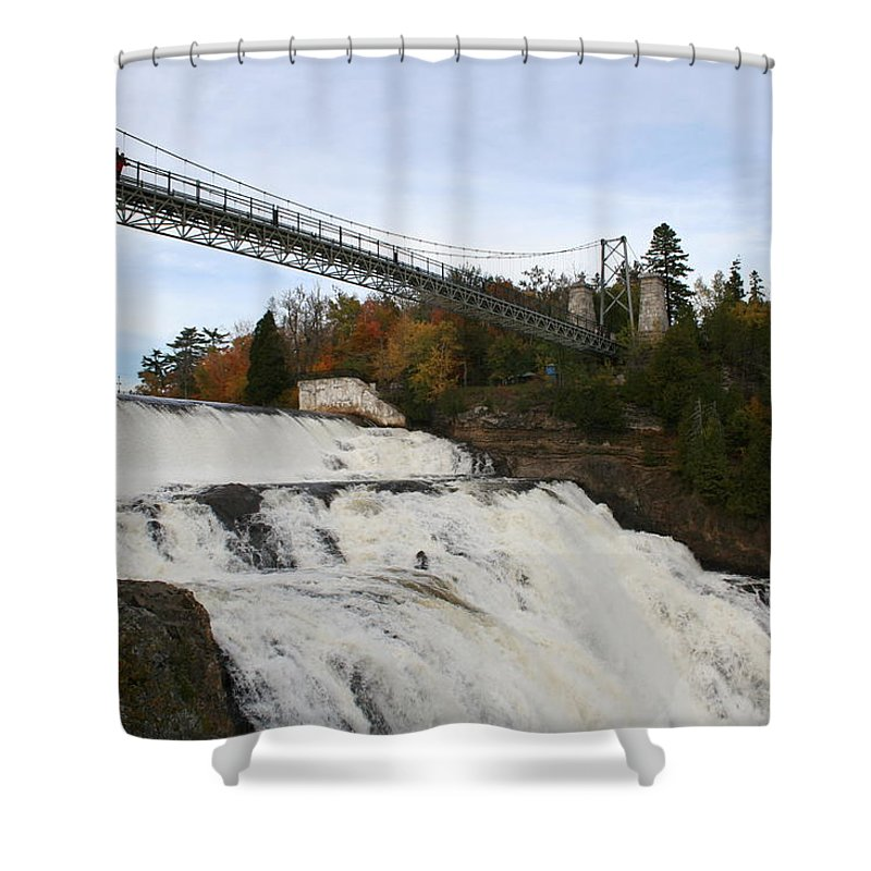 Waterfall Shower Curtain featuring the photograph Montmorency Waterfall Canada by Christiane Schulze Art And Photography