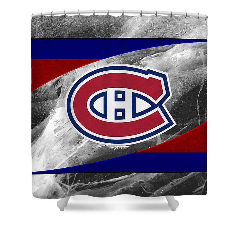 Canadiens Shower Curtain featuring the photograph Montreal Canadiens by Joe Hamilton