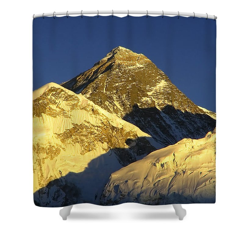Everest Shower Curtain featuring the photograph Mt Everest by Tim Hester