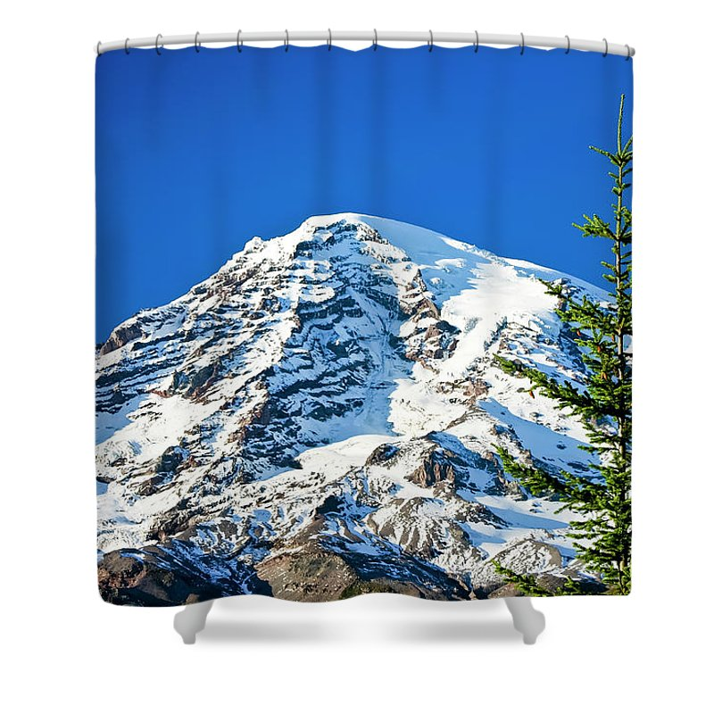 Northwest Shower Curtain featuring the photograph Mt Rainier by Albert Seger