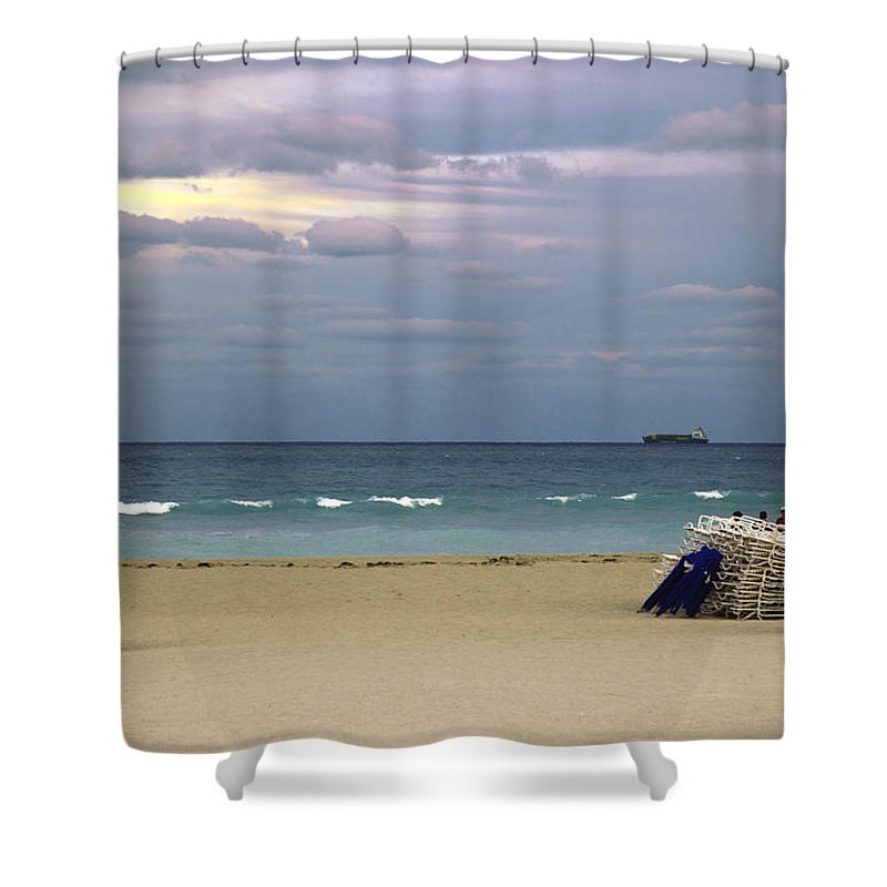 Ocean Shower Curtain featuring the photograph Ocean View 1 - Miami Beach - Florida by Madeline Ellis