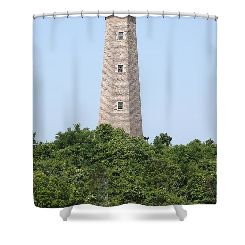 Lighthouse Shower Curtain featuring the photograph Old Cape Henry Lighthouse by Christiane Schulze Art And Photography