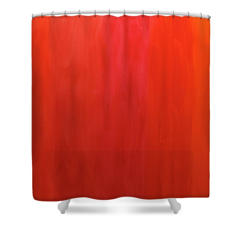 Oranges Shower Curtain featuring the painting Oranges by Kimberly Maxwell Grantier