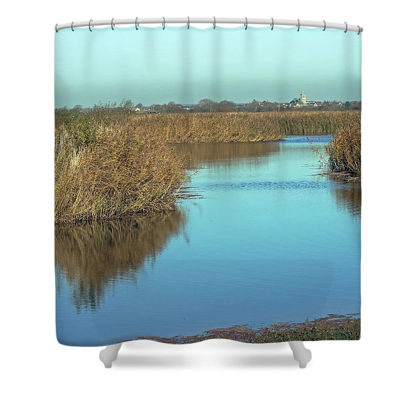 Landscape Shower Curtain featuring the photograph Otmoor Nature Reserve by Tony Murtagh