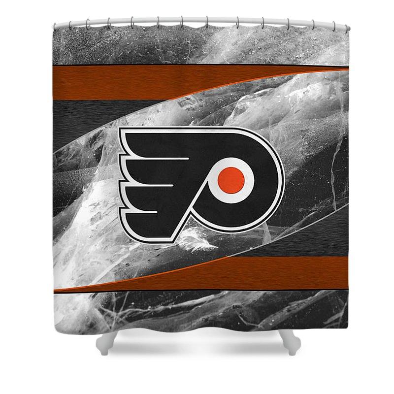 Flyers Shower Curtain featuring the photograph Philadelphia Flyers by Joe Hamilton
