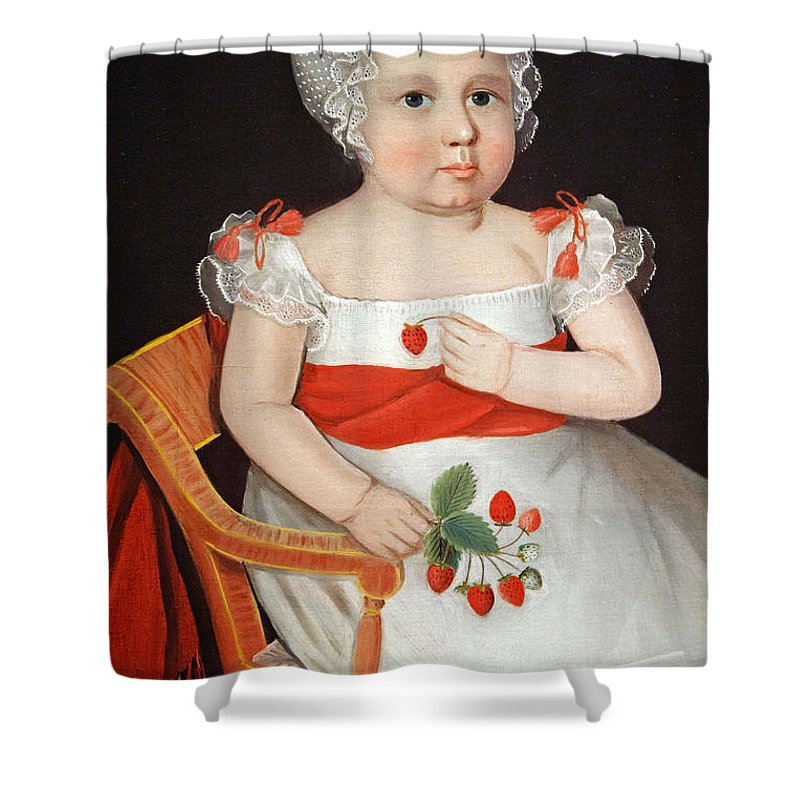 Strawberry Girl Shower Curtain featuring the photograph Phillips' The Strawberry Girl by Cora Wandel