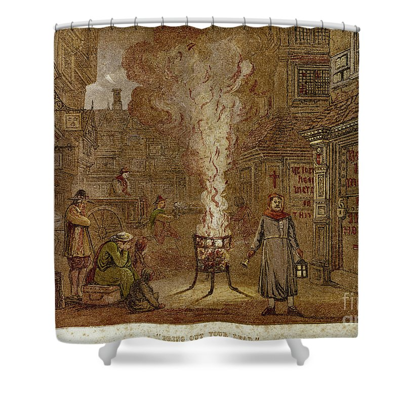 1665 Shower Curtain featuring the photograph Plague Of London, 1665 by Granger
