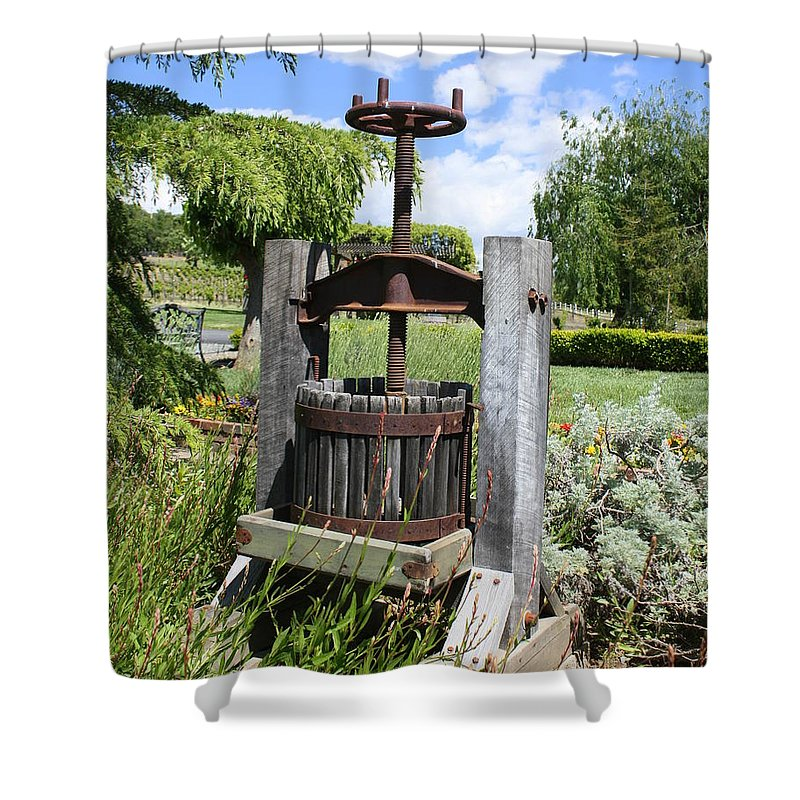 Make Grapes Whine Shower Curtain featuring the photograph Make Grapes Whine by Patrick Witz
