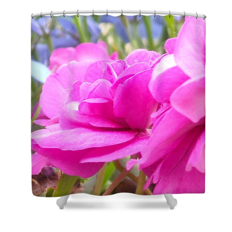 Flower Shower Curtain featuring the photograph Pretty Pink Flower by Line Gagne
