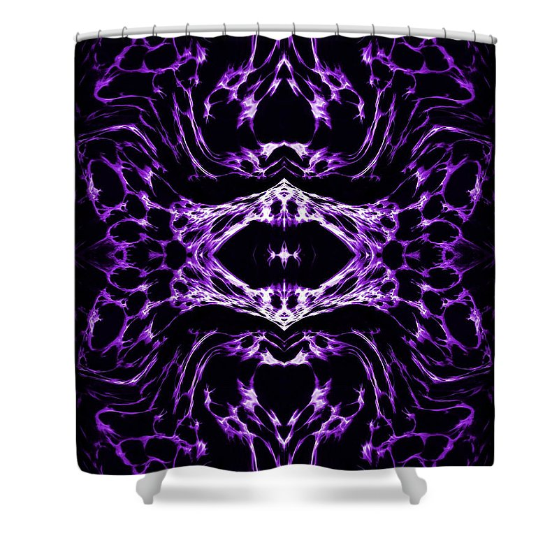 Original Shower Curtain featuring the painting Purple Series 3 by J D Owen