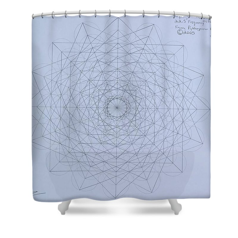 Jason Shower Curtain featuring the drawing Quantum Foam by Jason Padgett