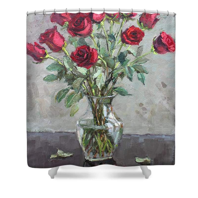 Red Roses Shower Curtain for Sale by Ylli Haruni