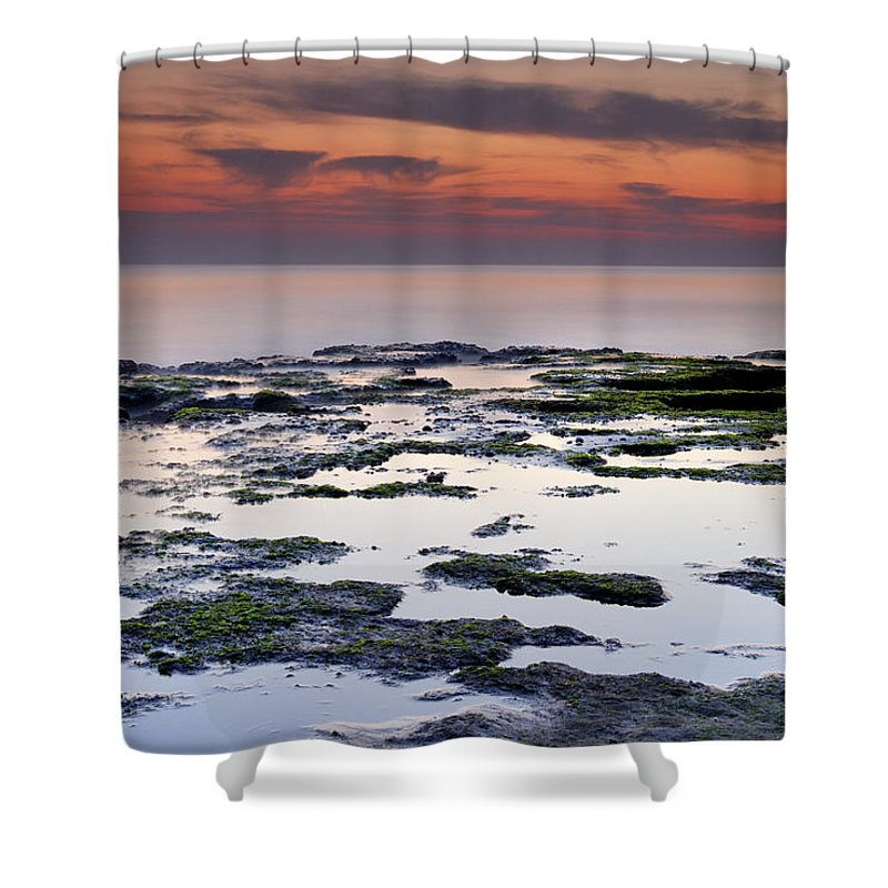 Seascape Shower Curtain featuring the photograph Reflexion by Guido Montanes Castillo