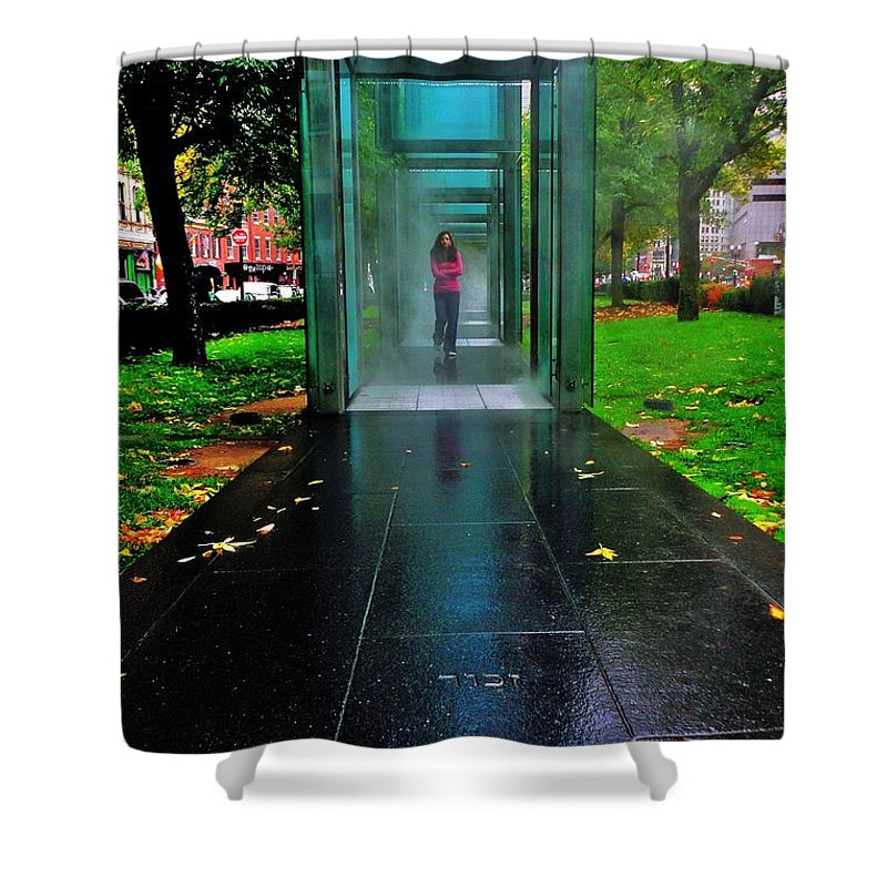 Boston Shower Curtain featuring the photograph Remember by Benjamin Yeager