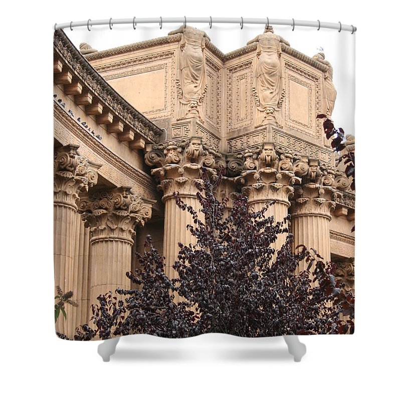 San Francisco Shower Curtain featuring the photograph San Francisco - Palace Of Fine Arts by Christiane Schulze Art And Photography