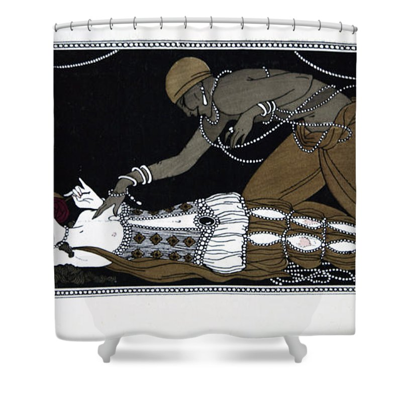 Ballet Shower Curtain featuring the painting Scheherazade by Georges Barbier