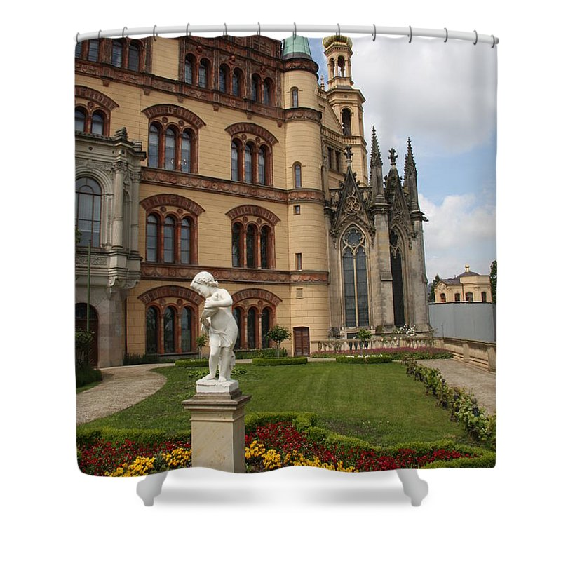 Schwerin Shower Curtain featuring the photograph Schwerin - Palace - Germany by Christiane Schulze Art And Photography