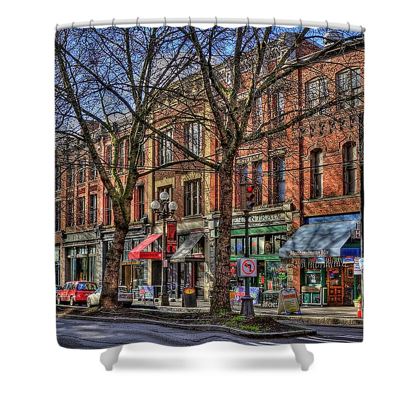 J&m Hotel Shower Curtain featuring the photograph Seattle by David Patterson