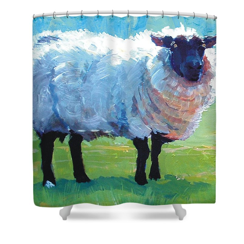 Sheep Painting Shower Curtain For Sale By Mike Jory