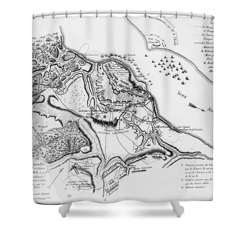 1781 Shower Curtain featuring the photograph Siege Of Yorktown, 1781 by Granger