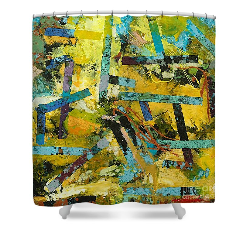 Landscape Shower Curtain featuring the painting Sweet Swanee by Allan P Friedlander