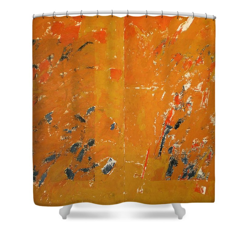 Gustav Mahler Shower Curtain featuring the painting Symphony No. 8 Movement 16 Vladimir Vlahovic- Images Inspired By The Music Of Gustav Mahler by Vladimir Vlahovic