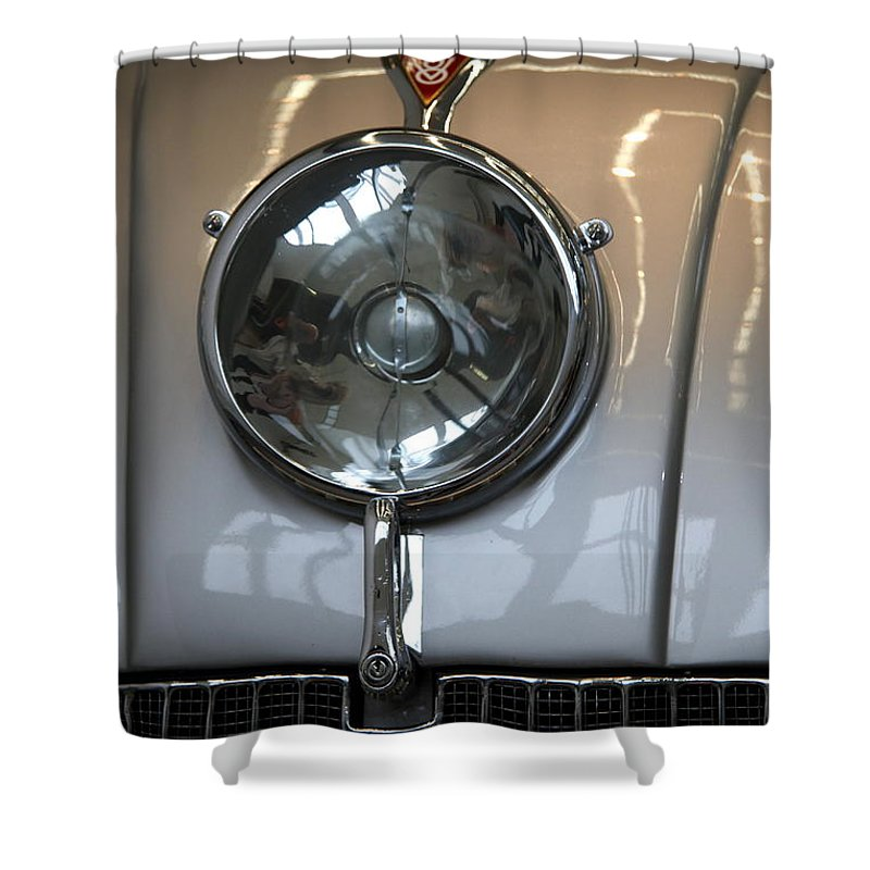 Tatra 87 Shower Curtain featuring the photograph Tatra 87 High Beam by Christiane Schulze Art And Photography
