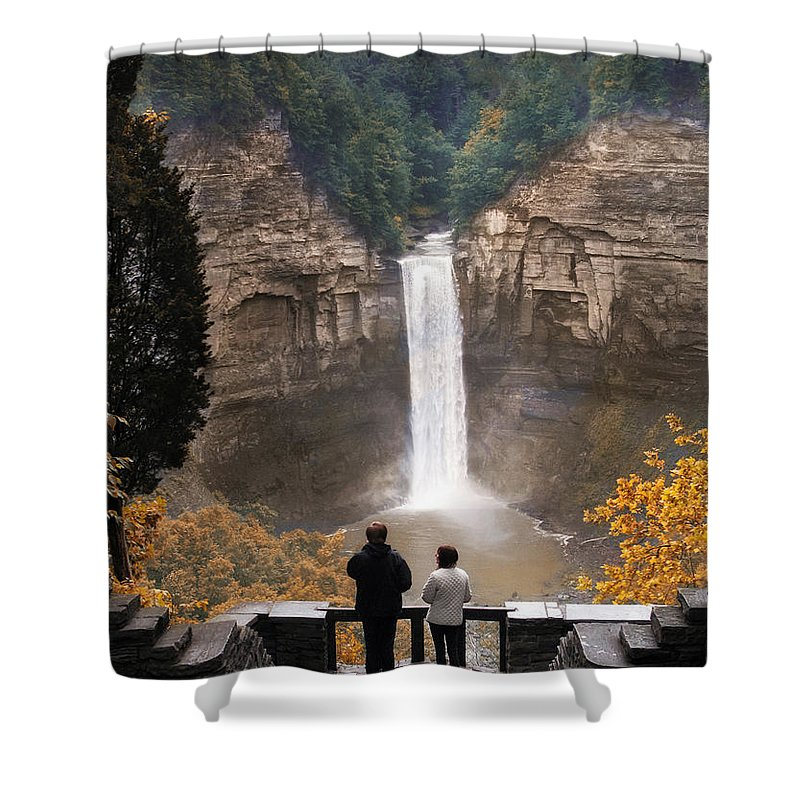 Nature Shower Curtain featuring the photograph Taughannock Falls by Jessica Jenney