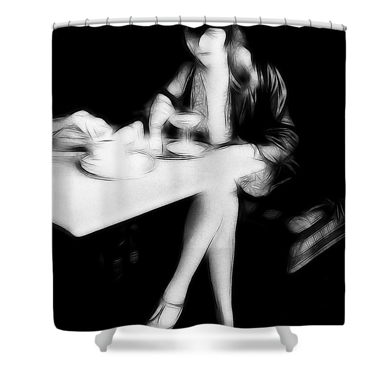 Flapper Shower Curtain featuring the painting The Flapper Girl by Steve K