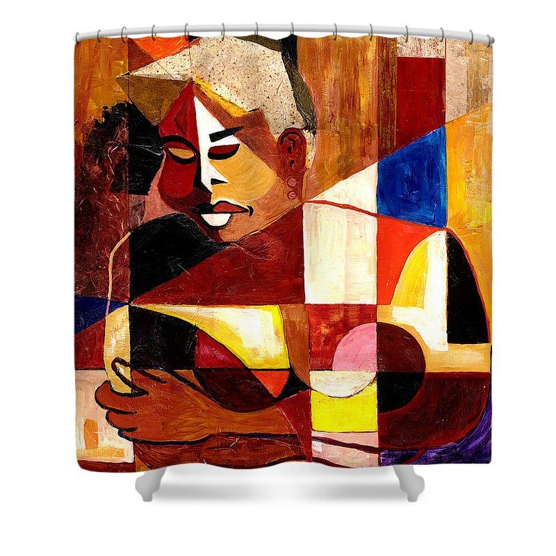 Everett Spruill Shower Curtain featuring the painting The Matriarch - Take 2 by Everett Spruill
