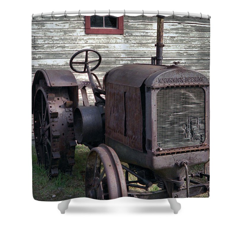 Farm Tractor Shower Curtain featuring the photograph The Old Mule by Richard Rizzo