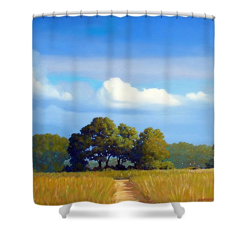 Landscape Shower Curtain featuring the painting The Path by Kevin Lawrence Leveque